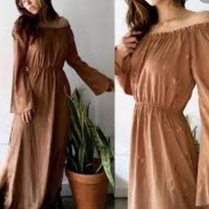 FLYNN SKYE SOFT BROWN MAXI DRESS